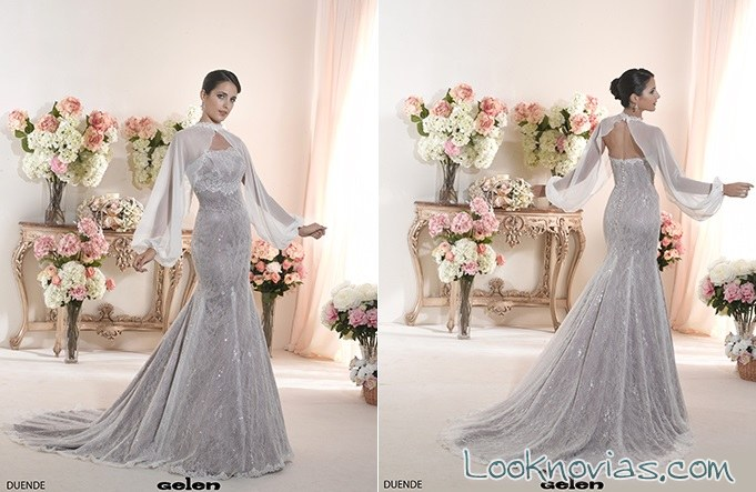 vestido novia con mangas bolero