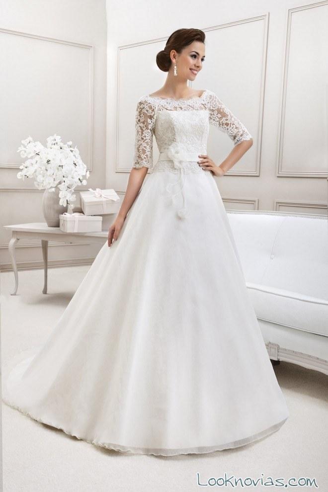 vestido novia con mangas inspired collection