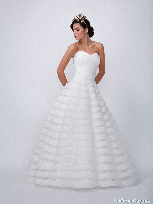 vestido novia con rayas ada novia