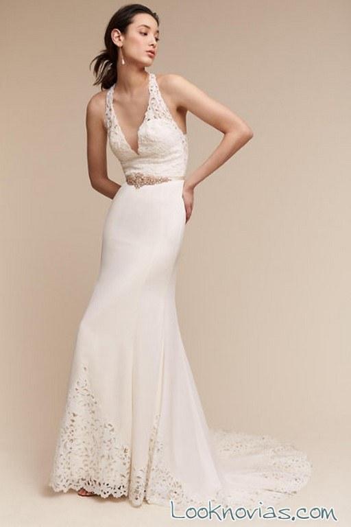 vestido novia con tirantes muy finos