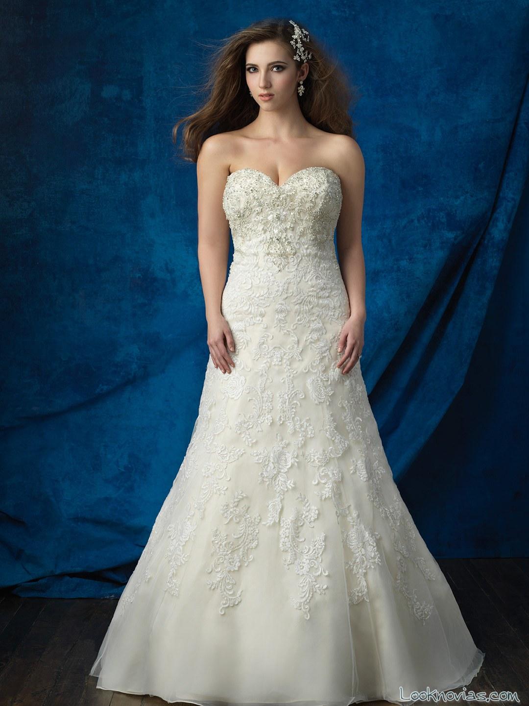 vestido novia corte a plus size