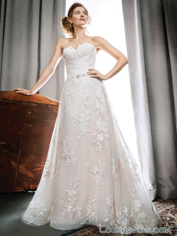 vestido novia corte evasé kenneth winston
