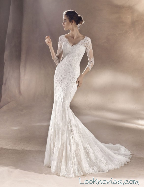 vestido novia corte sirena en color blanco white one