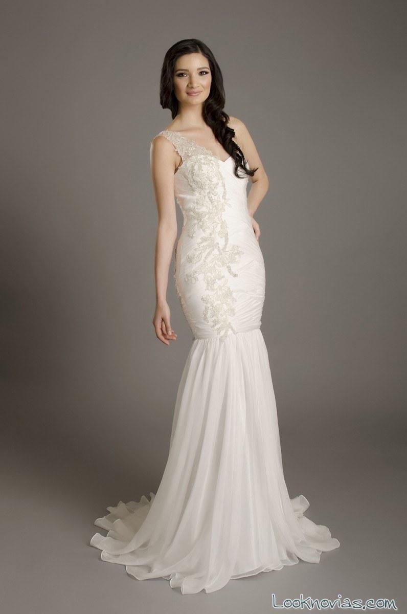 vestido novia corte sirena franssical