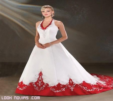 bordados para vestido de novia rojo y blanco