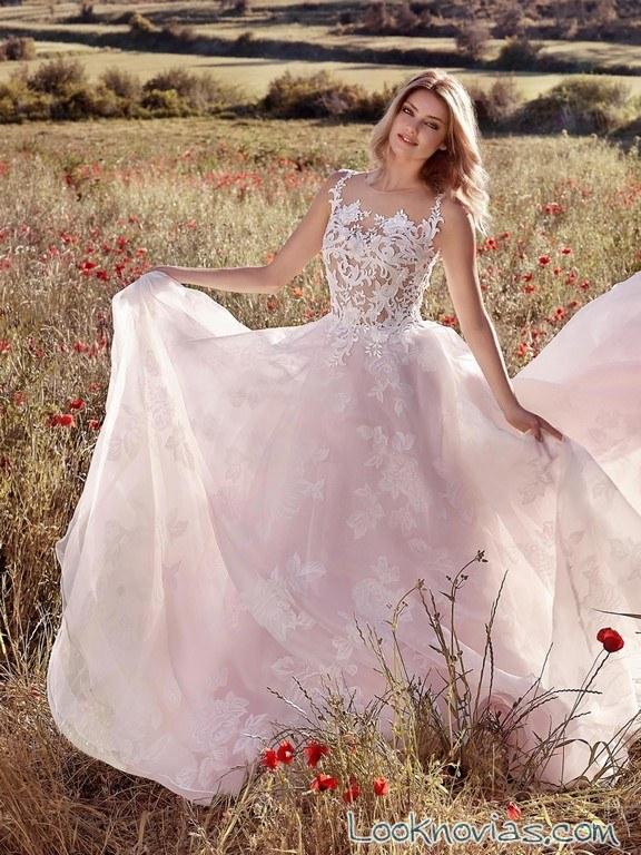 vestido novia d´art color 2017