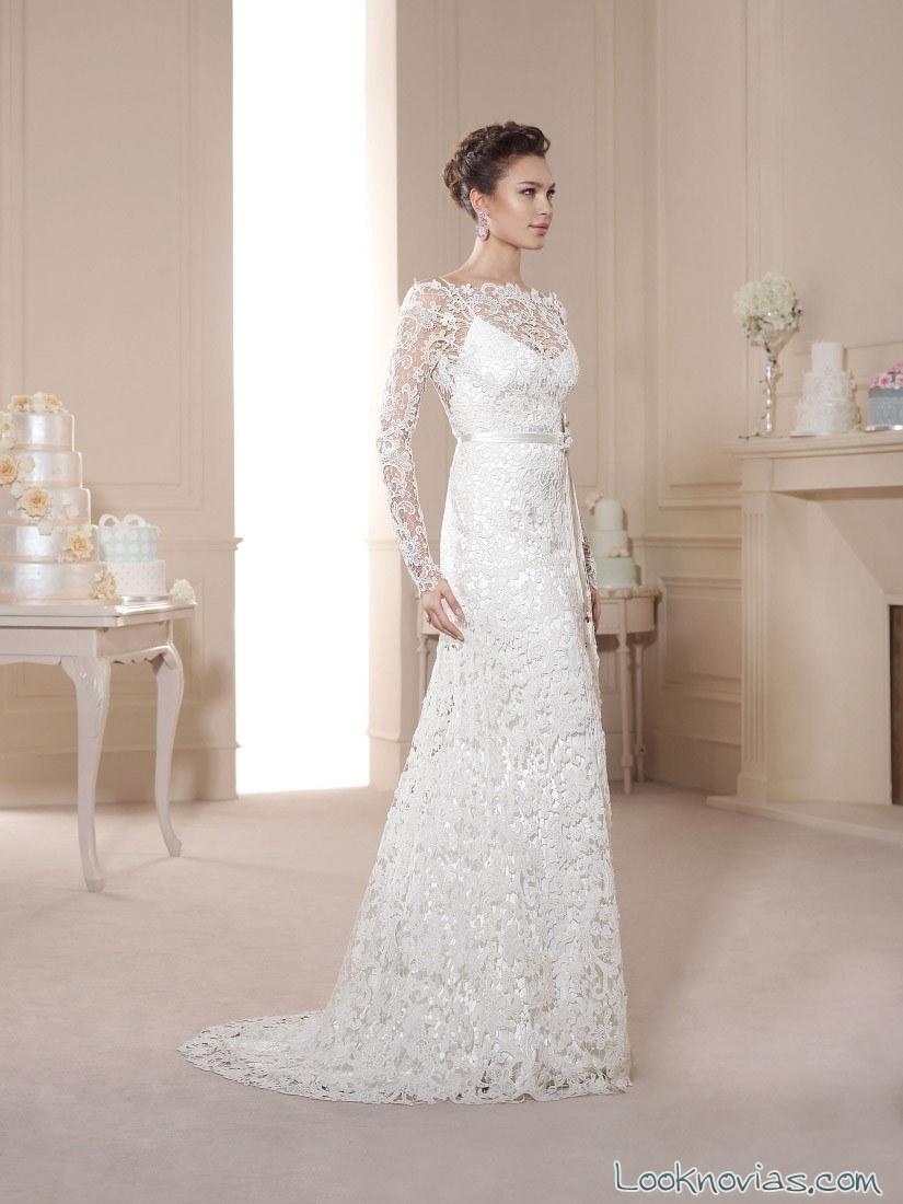 vestido novia d´art con encajes