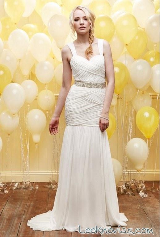 vestido novia drapeado daisy bridal