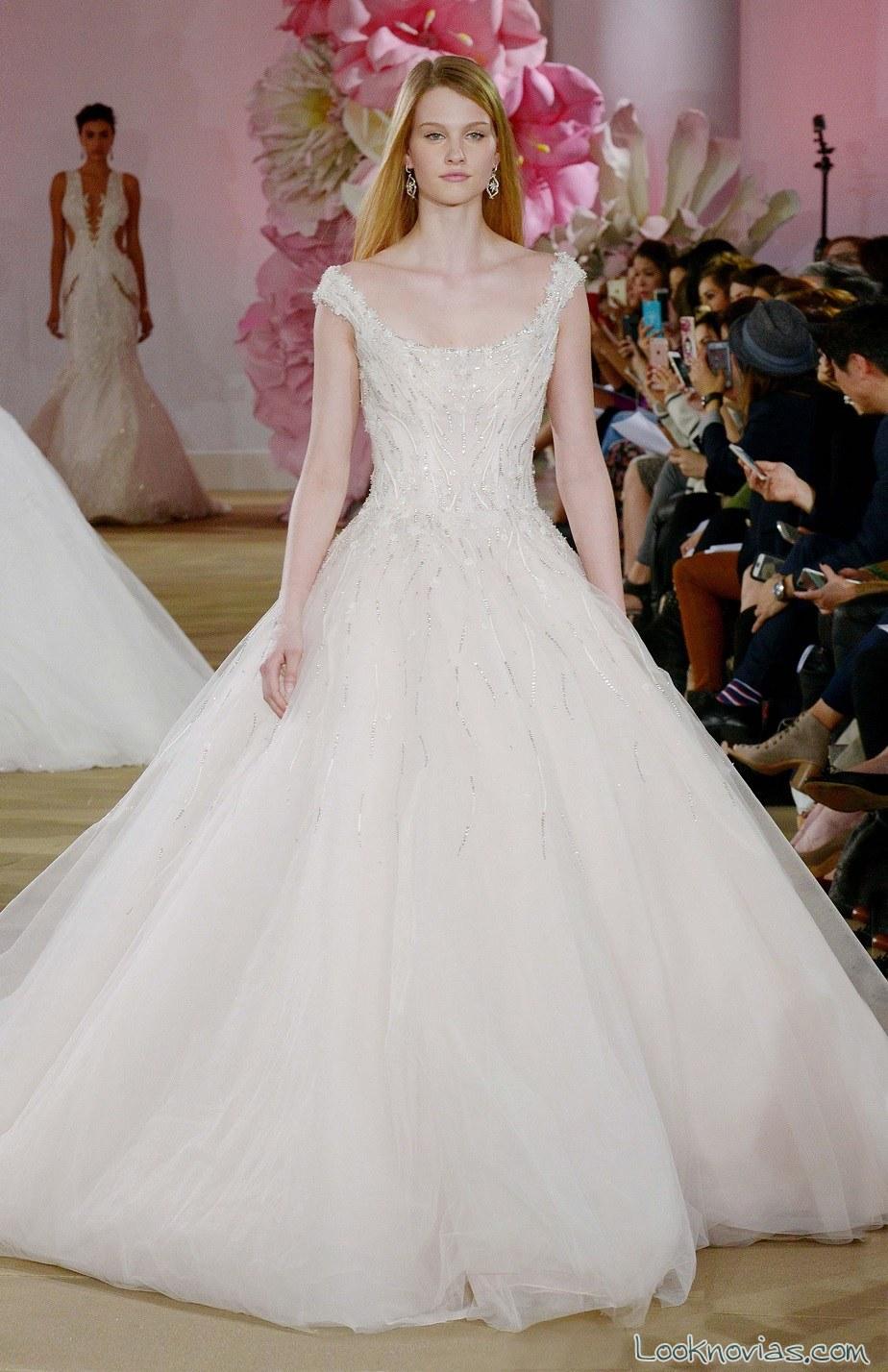 vestido novia escote barco