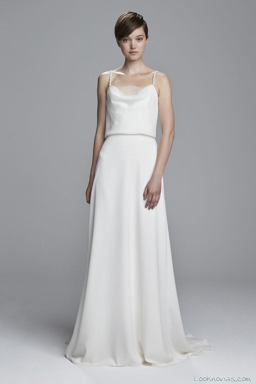 vestido novia estilo lencero