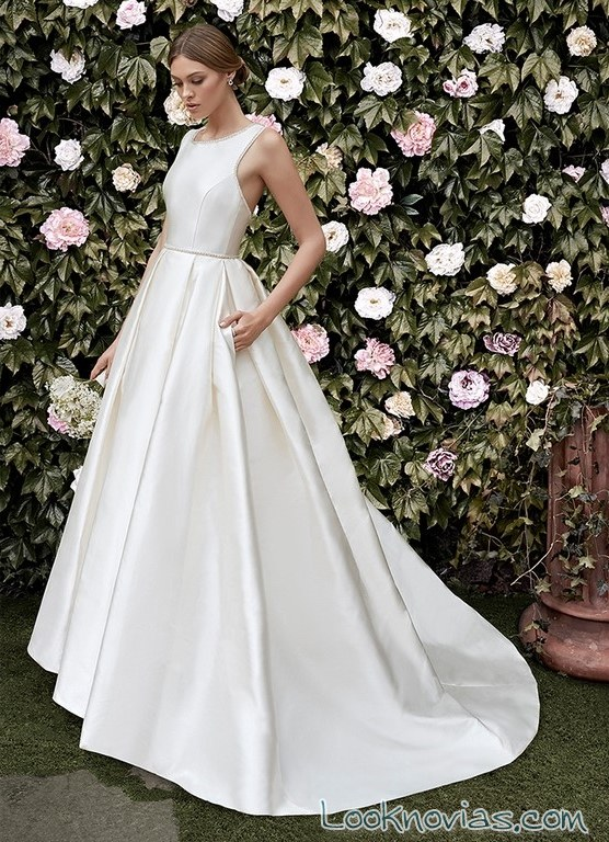 vestido novia evasé cristina tamborero