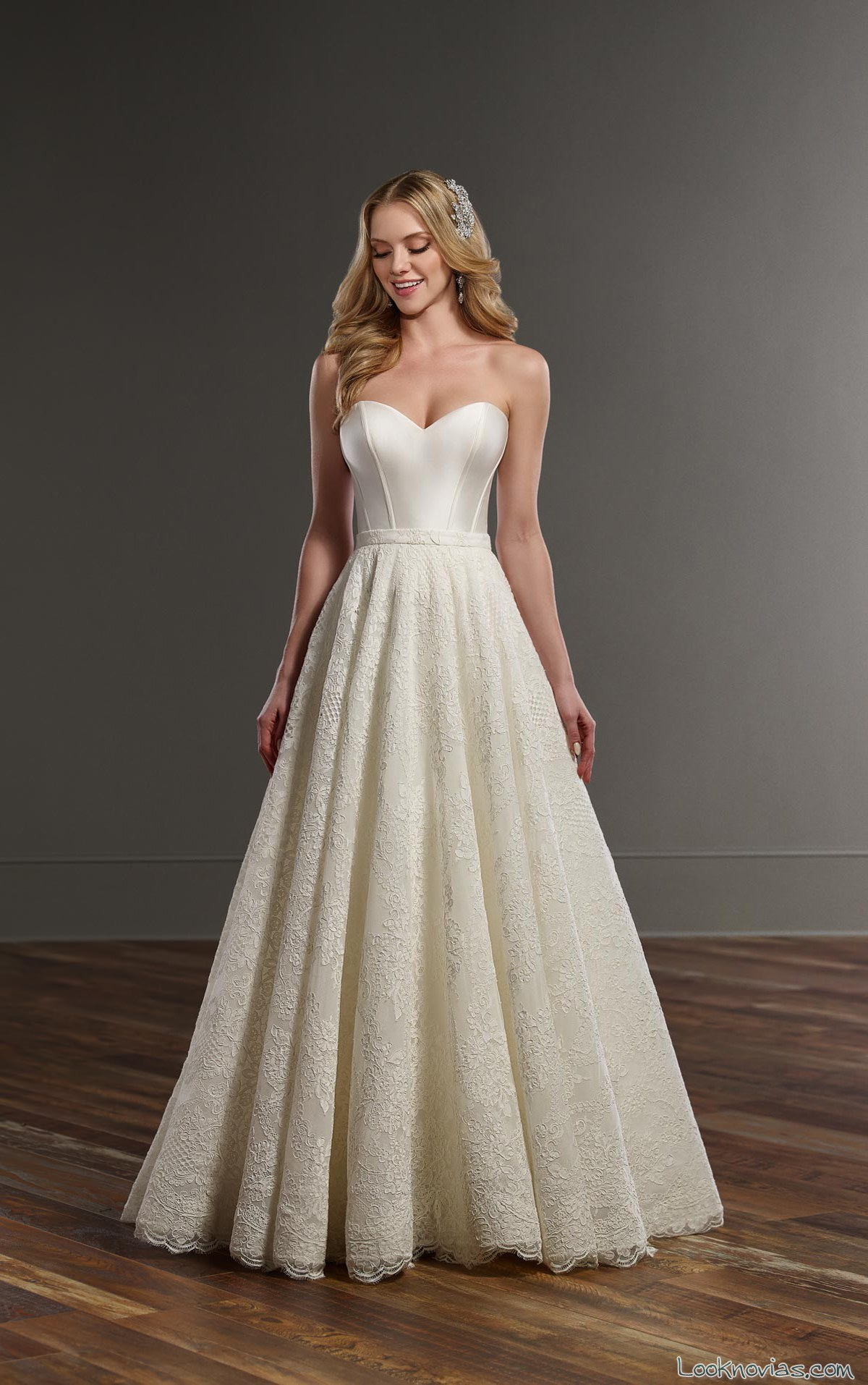 vestido novia evasé martina liana