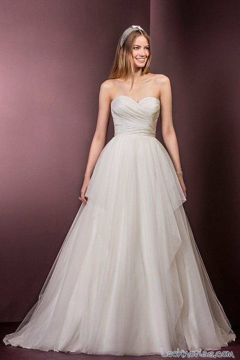 vestido novia evasé princesa ellis bridals