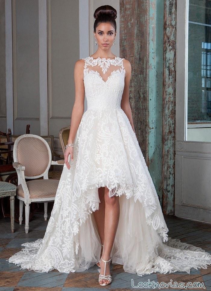 vestido novia falda asimétrica signature