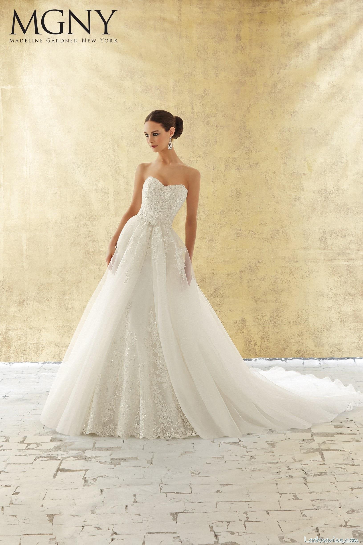 vestido novia madeline gardner con doble falda