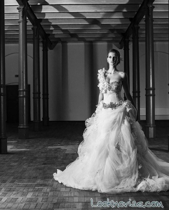 vestido novia maria karin efecto clásico