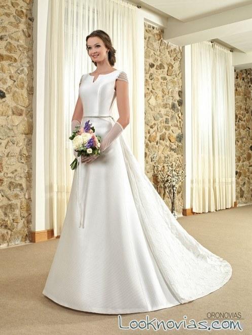 vestido novia minimalista oronovias