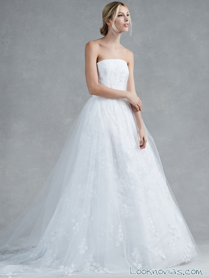 vestido novia oscar de la renta vaporoso
