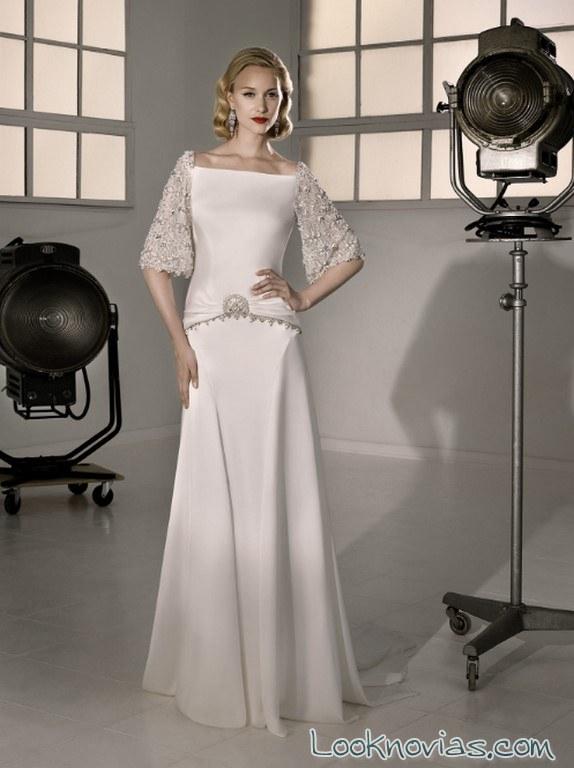 vestido novia recto marylise