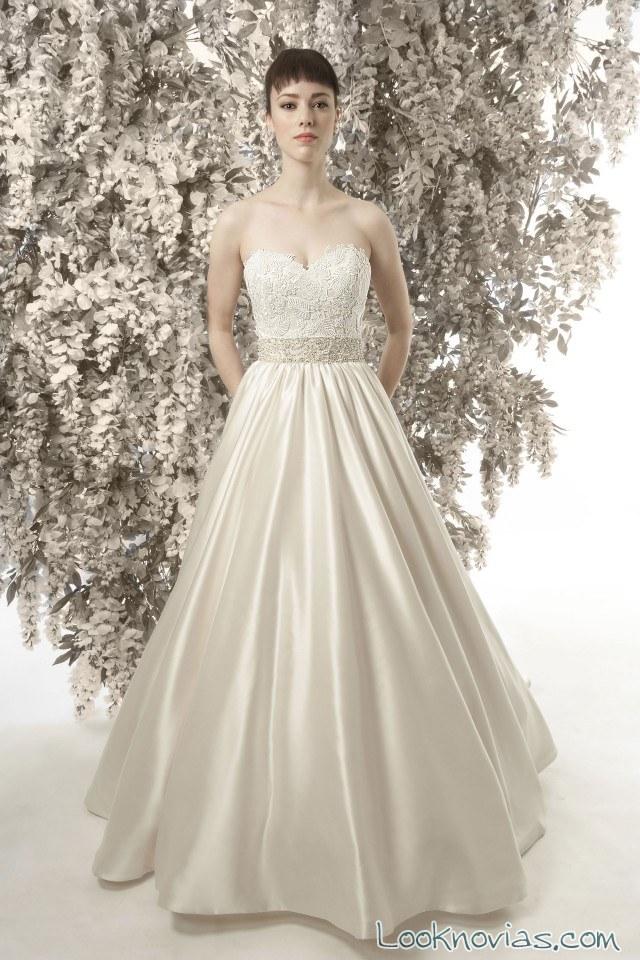 vestido novia satinado christine dando