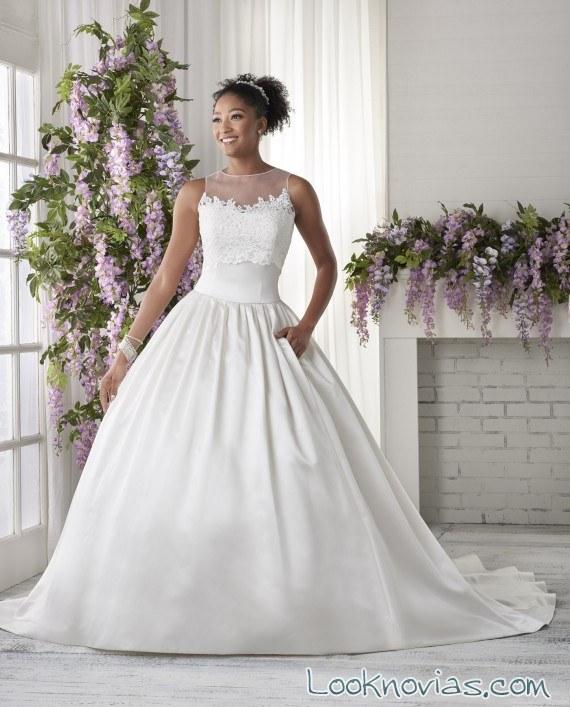 vestido novia sencillo de bonny bridal