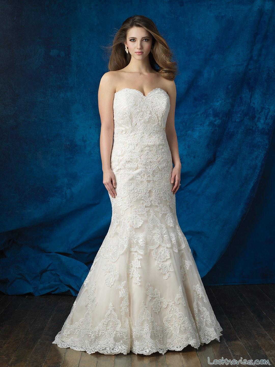 vestido novia sirena allure bridals talla grande