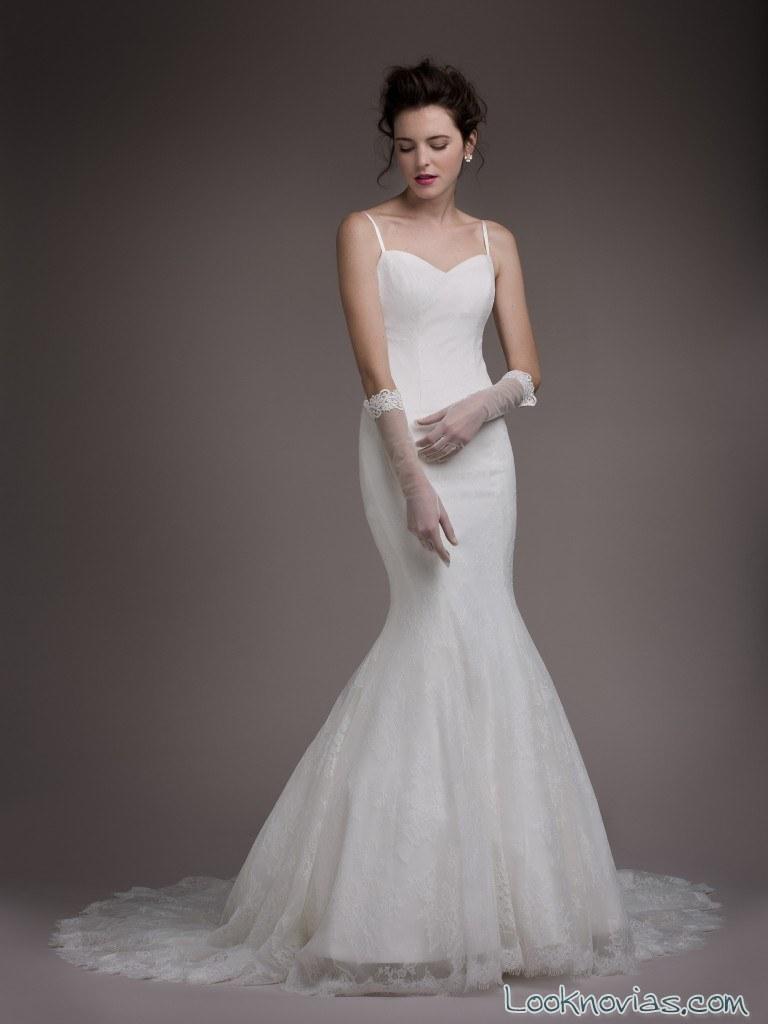 vestido novia sirena blancary