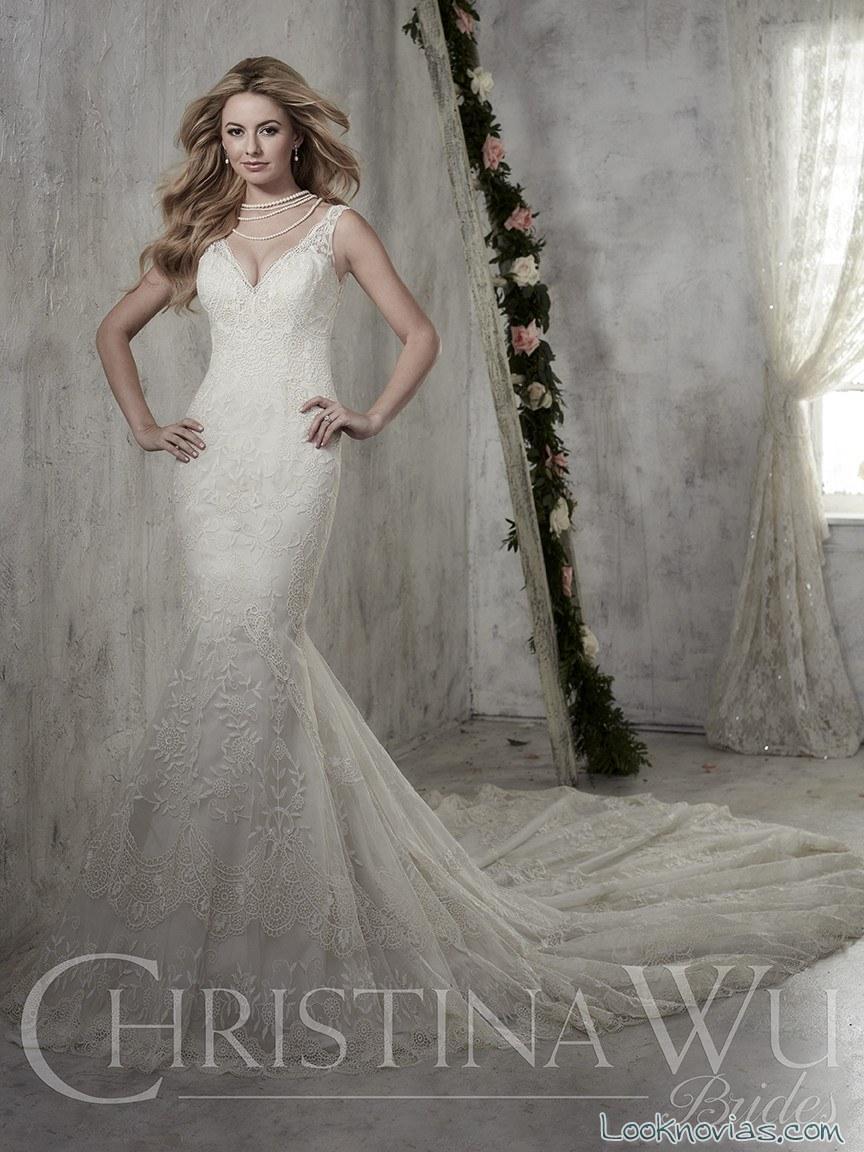 vestido novia sirena christina wu
