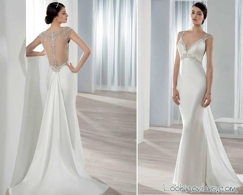 vestido novia sirena con escote en espalda