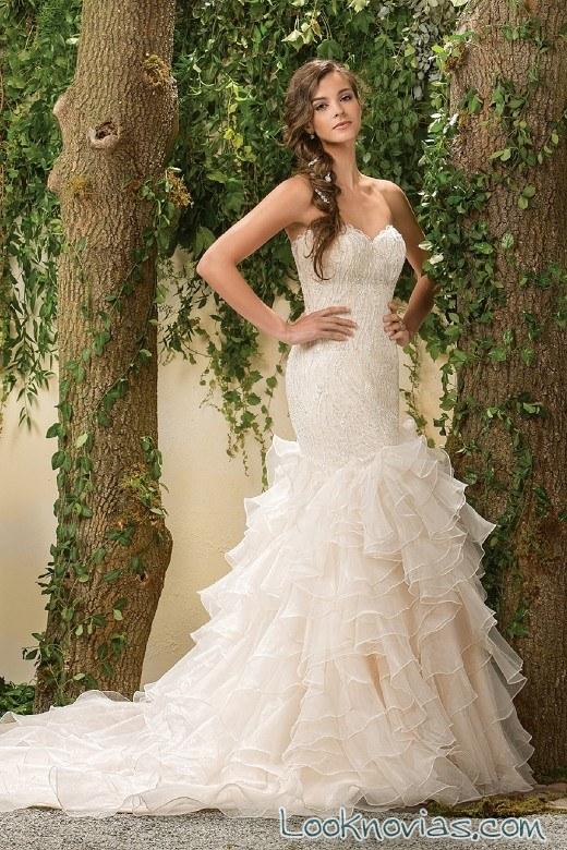 vestido novia sirena de jasmine bridal