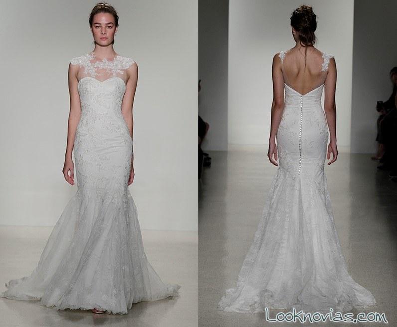 vestido novia sirena escote fantasía