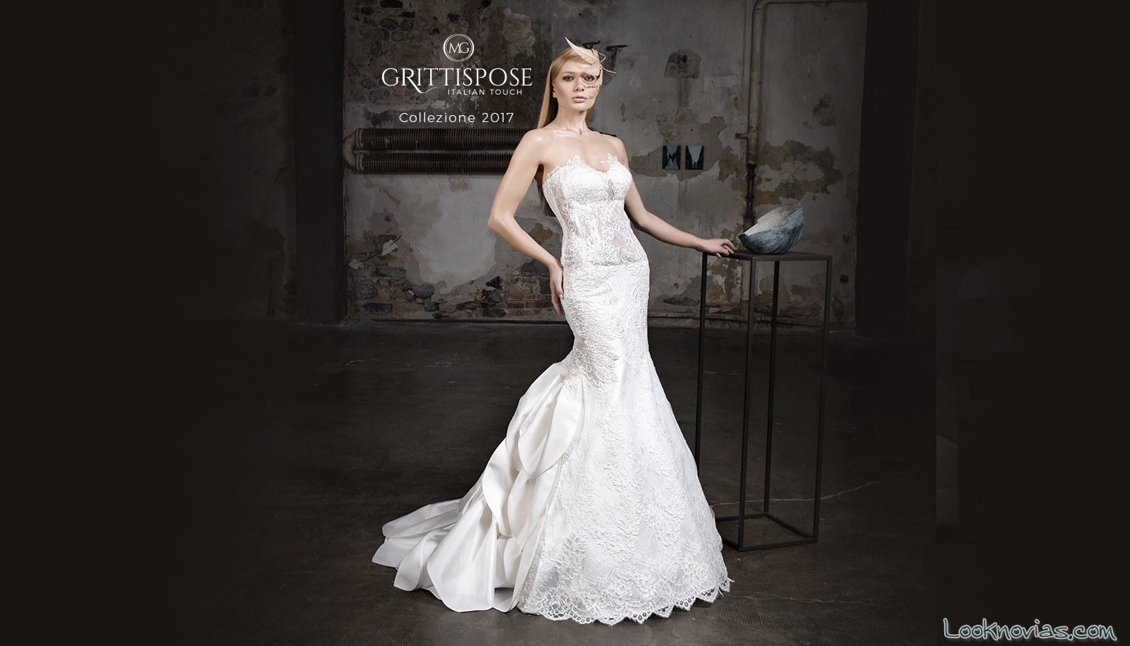 vestido novia sirena satinado gritti