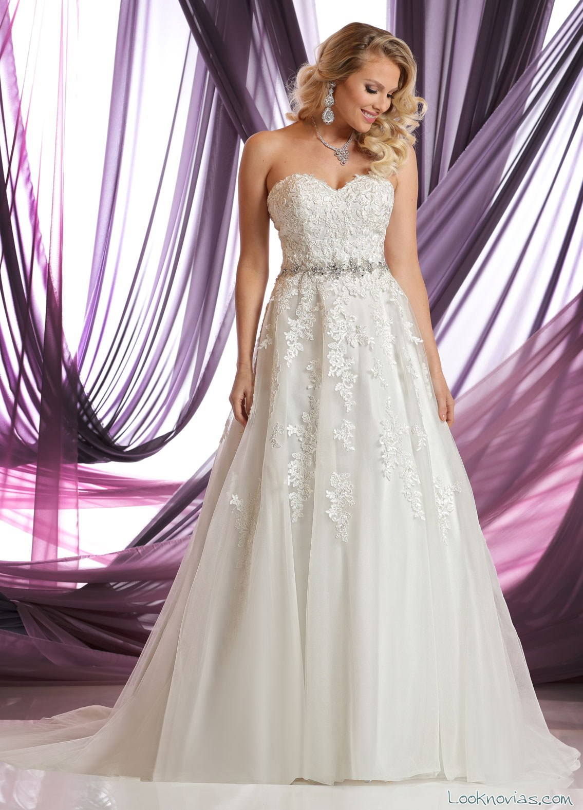 vestido novia strapless sencillo
