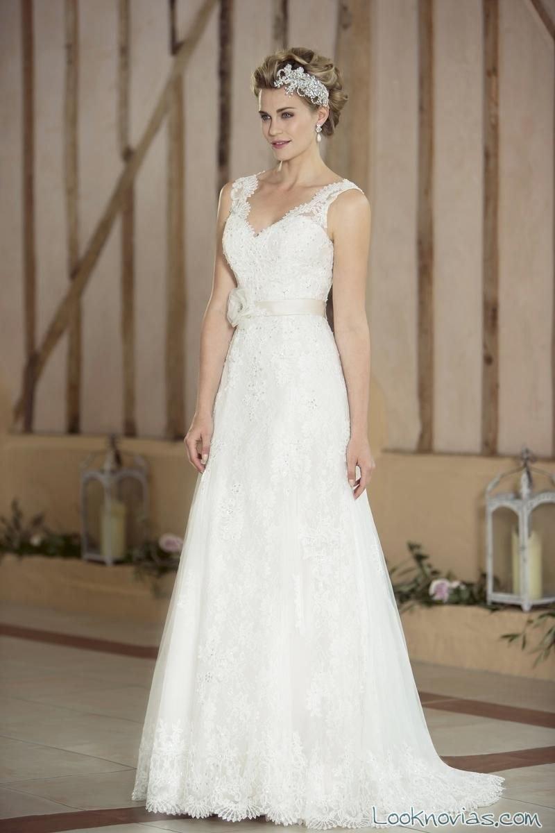 vestido novia tirantes nicky flynn