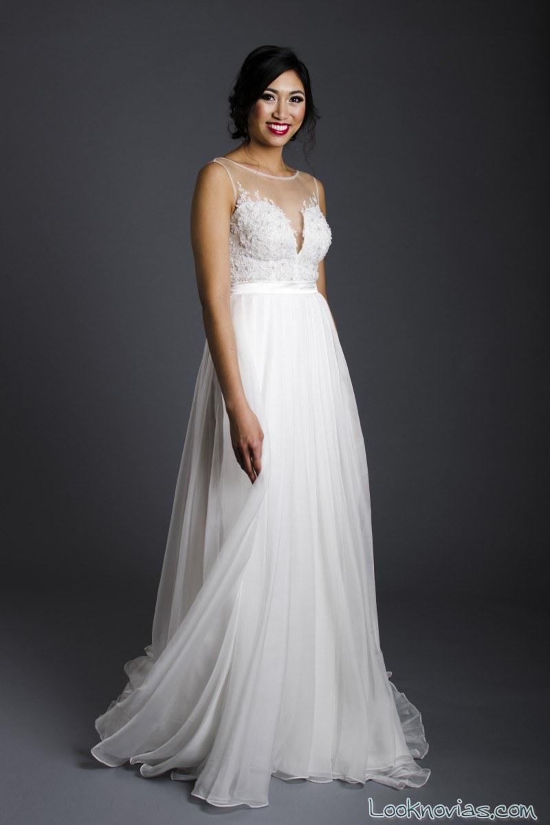 vestido novia vaporoso franssical