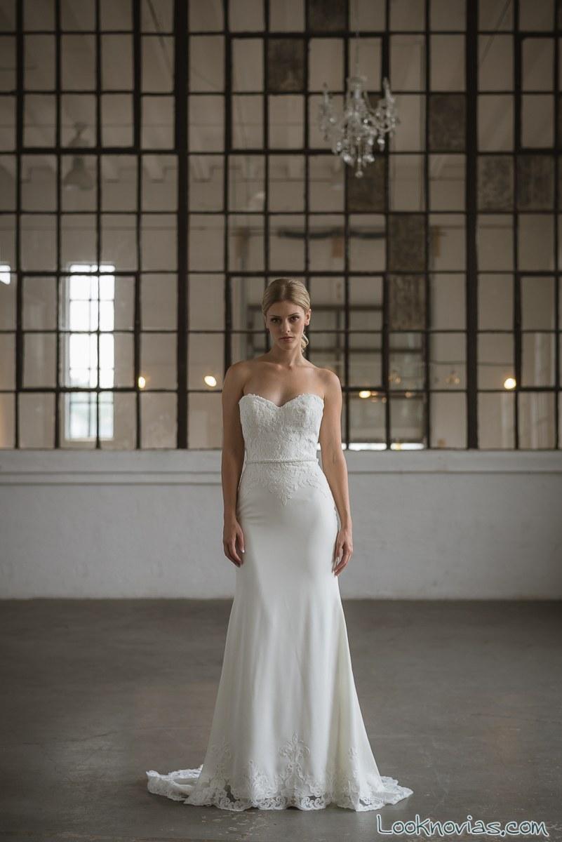 vestido novias blanco lis simon