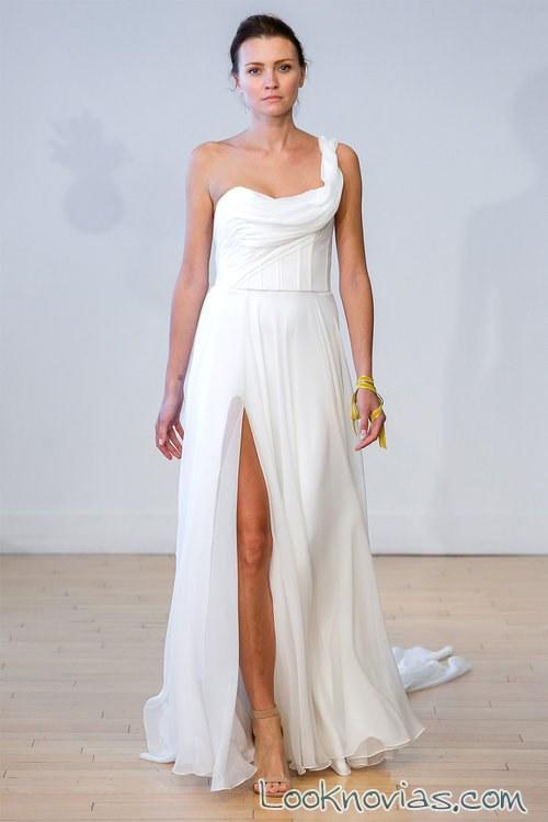 vestido novias carol hannah con abertura