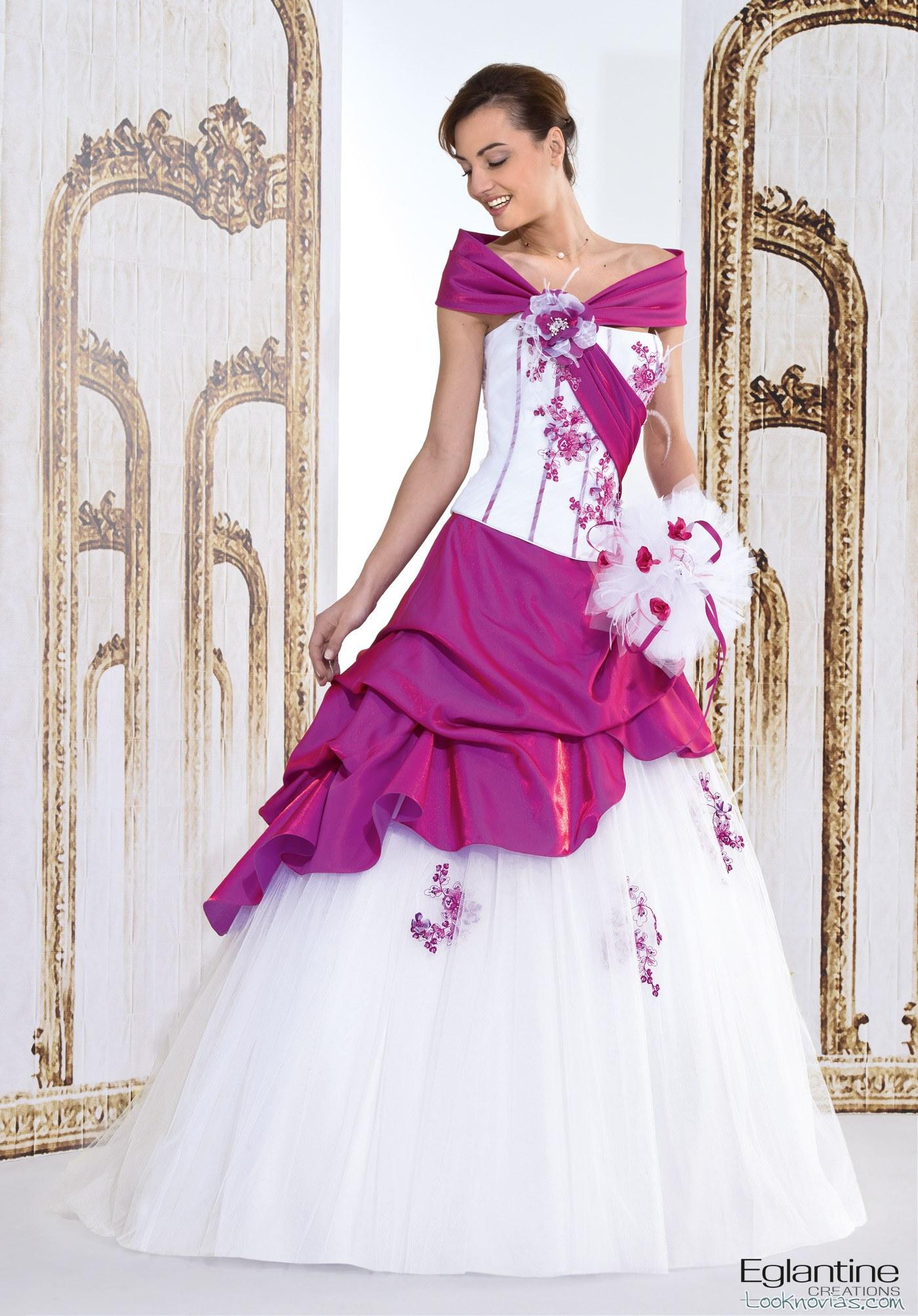 vestido novias color rosado
