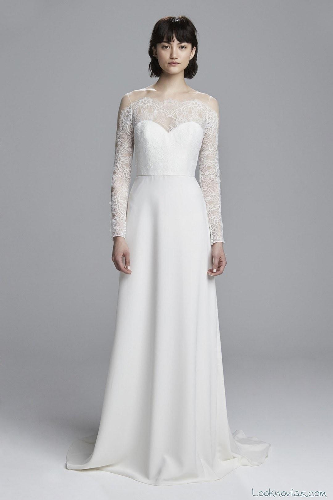 vestido novias con mangas christos