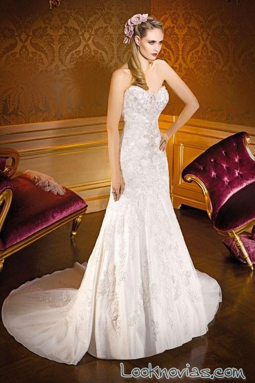 vestido novias corte corazón miss kelly