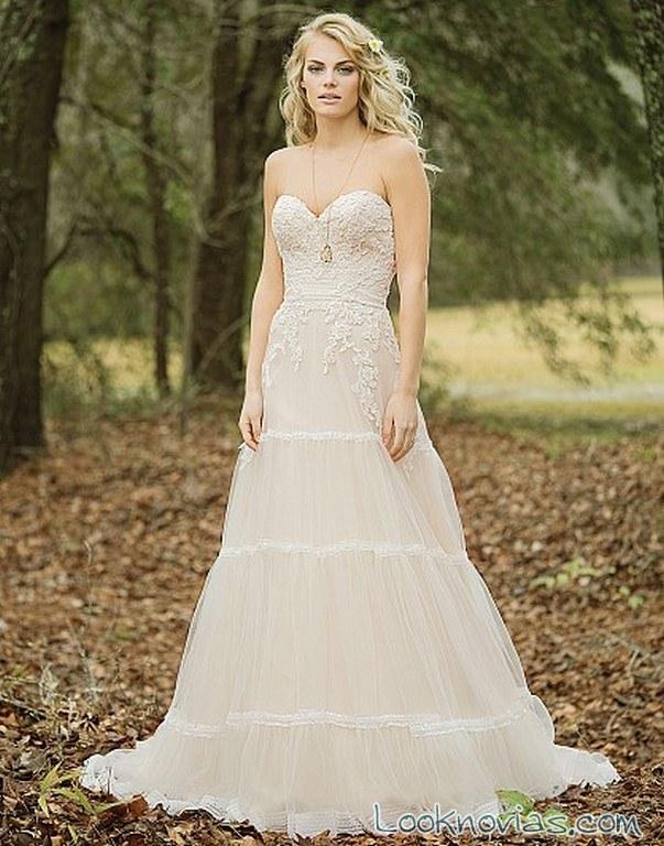vestido novias en color evasé lillian west