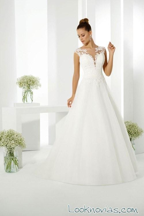 vestido novias escote a pico just for you