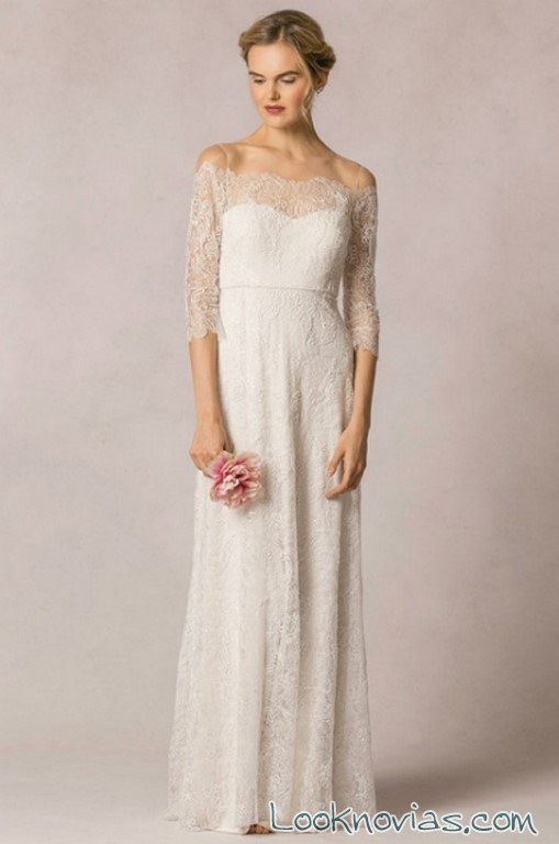 vestido novias escote bardot
