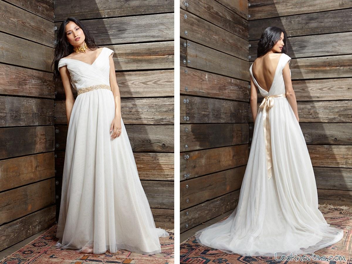 vestido novias ivy y aster 2017