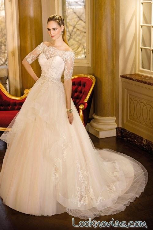 vestido novias manga corta miss kelly