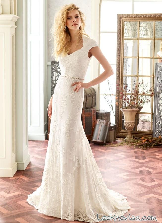 vestido novias modeca tirantes