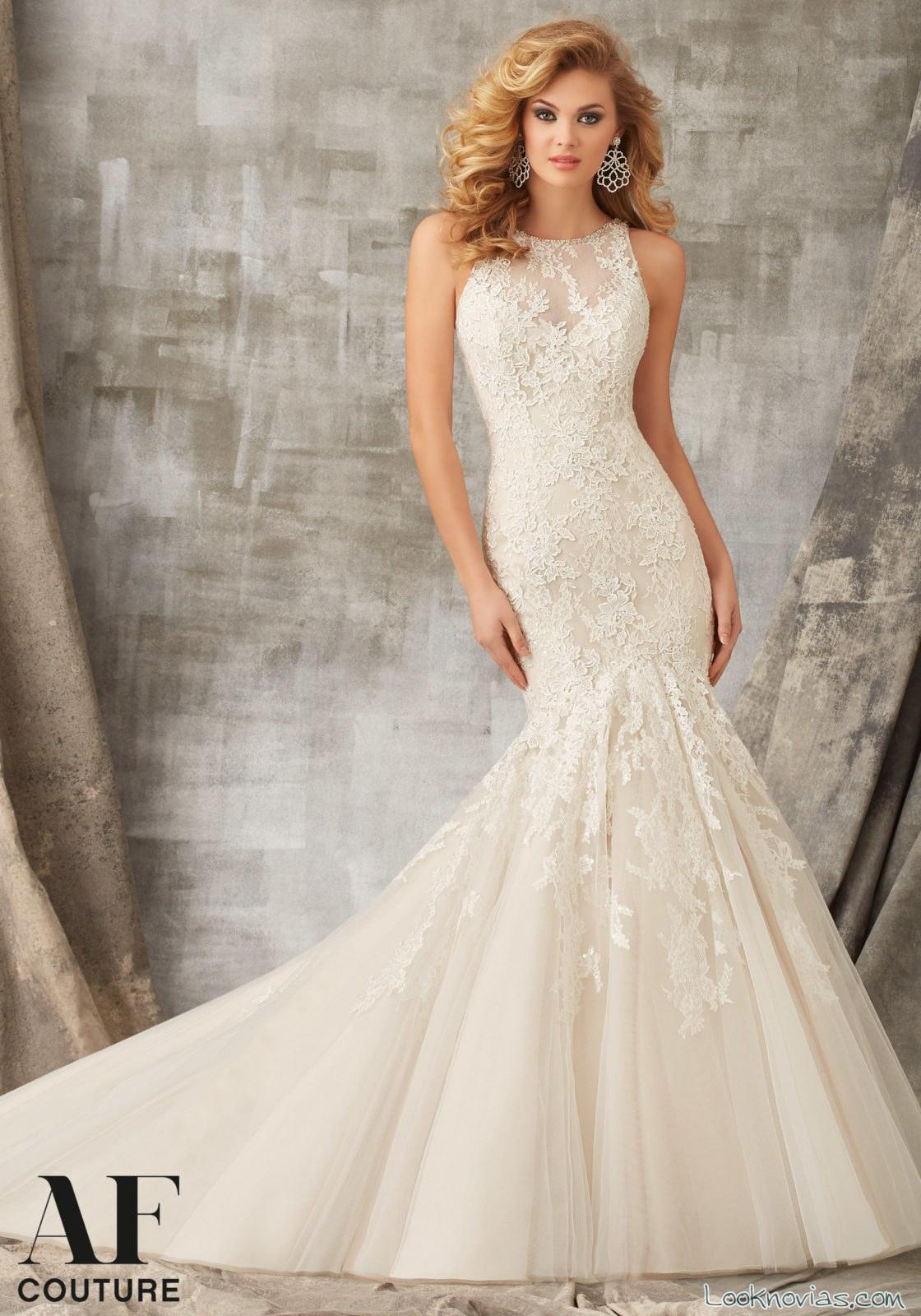 vestido novias mori lee AF en color blanco