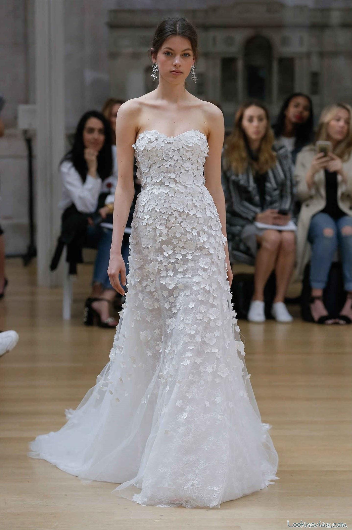 vestido novias oscar de la renta 2018