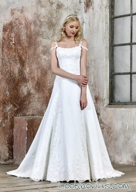 vestido novias plisado maria salas