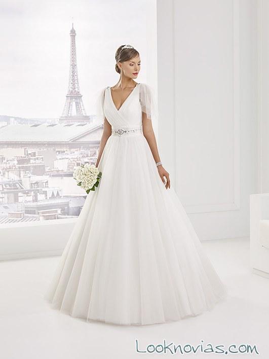 vestido novias pronuptia mangas
